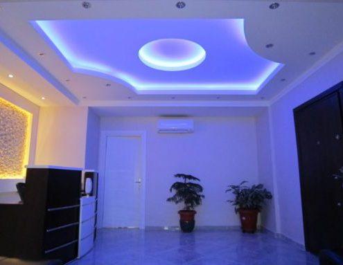 Işık Bandı Alçı Salon Dekorasyon