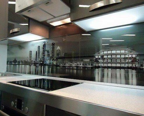 Cam Paneller Mutfak Dekorasyon