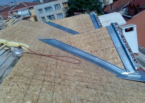 OSB Çatı Kaplama - Ahşap Mebran Çatı